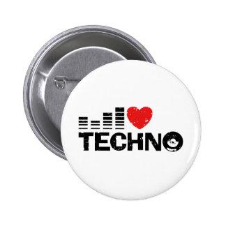 I Love Techno Button