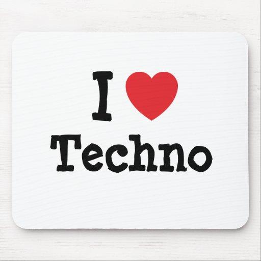 I love Techno heart custom personalized Mouse Mats