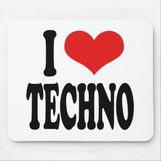 I Love Techno Mouse Pad