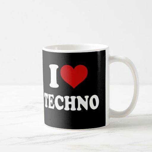 I Love Techno Mugs