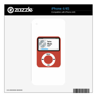 I love Techno Music Skin For iPhone 4