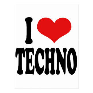 I Love Techno Postcard