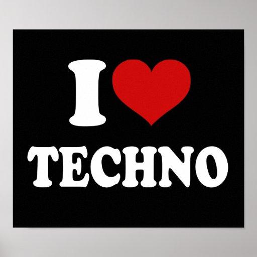 I Love Techno Print