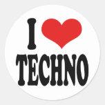I Love Techno Sticker