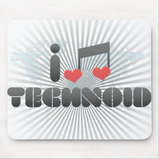I Love Technoid Mouse Pad