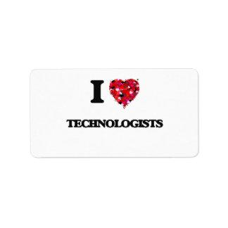 I love Technologists Address Label