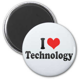 I Love Technology Refrigerator Magnet