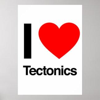 i love tectonics print