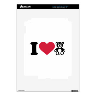 I love Teddy Bear Skin For iPad 2