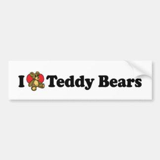 I Love Teddy Bears Bumper Sticker Car Bumper Sticker