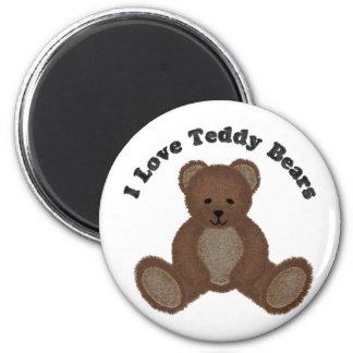 I Love Teddy Bears Fuzzy Buddy Magnet