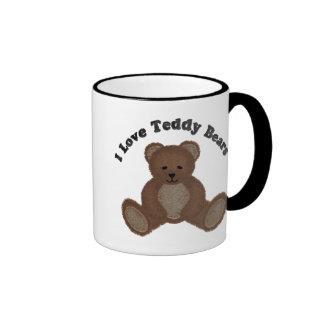 I Love Teddy Bears Fuzzy Buddy Mug