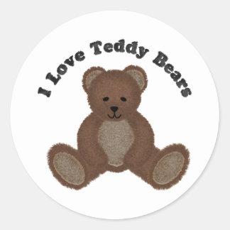 I Love Teddy Bears Fuzzy Buddy Sticker