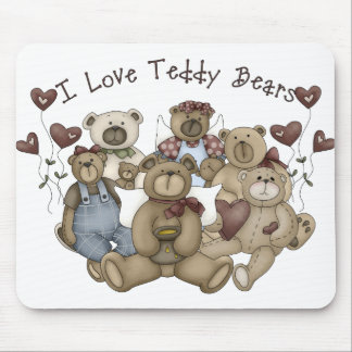 I  Love Teddy Bears Heartsakes Mouse Pad