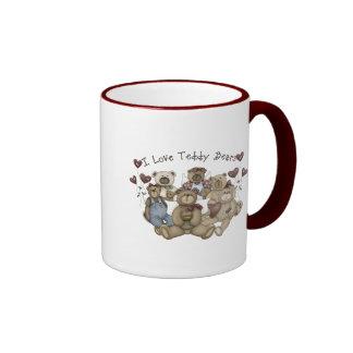 I  Love Teddy Bears Heartsakes Ringer Mug