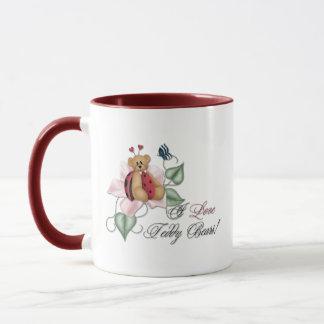 I Love Teddy Bears Lady Bug Bear Mug