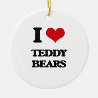 I Love Teddy Bears Christmas Tree Ornament
