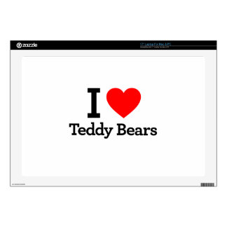 "I Love Teddy Bears 17"" Laptop Skins"
