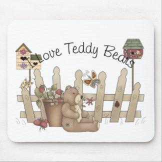 I Love Teddy Bears Spring Thyme Mousepad