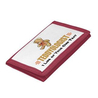 I Love Teddy Bears Tri-fold Wallet
