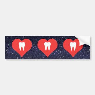 I Love teeth Car Bumper Sticker