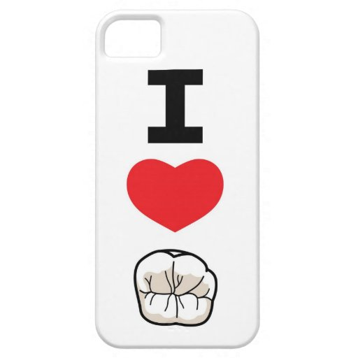 """I Love Teeth"" iPhone 5 Case"