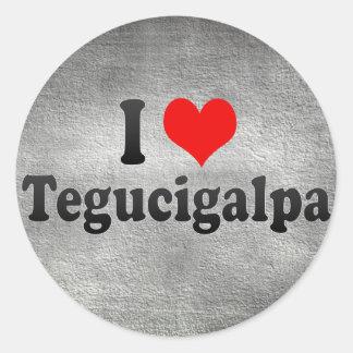 I Love Tegucigalpa, Honduras Classic Round Sticker