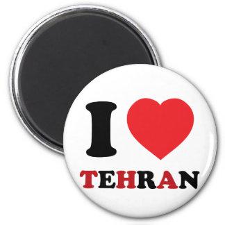I Love Tehran 2 Inch Round Magnet