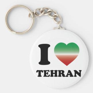 I Love Tehran Basic Round Button Keychain
