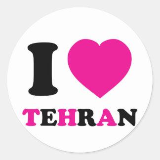 I Love Tehran Classic Round Sticker