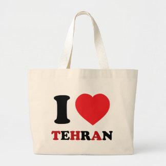 I Love Tehran Large Tote Bag