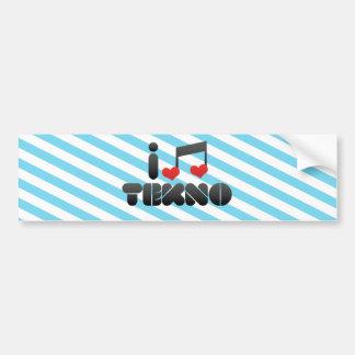 I Love Tekno Car Bumper Sticker