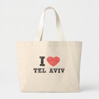 I Love Tel Aviv Canvas Bags