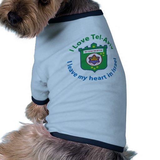I Love Tel-Aviv Doggie Shirt