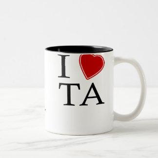 I Love Tel Aviv Two-Tone Coffee Mug
