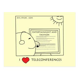 I Love Teleconferences Postcard