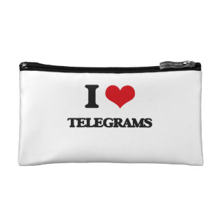 I love Telegrams Cosmetics Bags