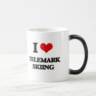 I Love Telemark Skiing 11 Oz Magic Heat Color-Changing Coffee Mug
