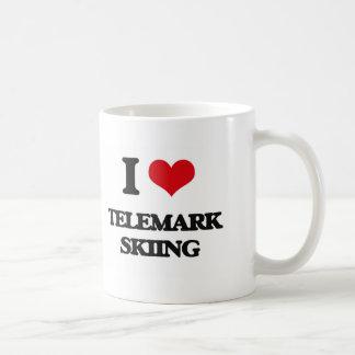 I Love Telemark Skiing Classic White Coffee Mug