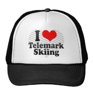 I love Telemark Skiing Mesh Hat