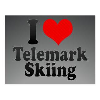 I love Telemark Skiing Postcard