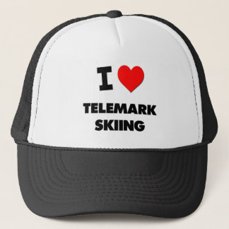 I Love Telemark Skiing Trucker Hat