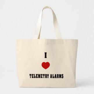 I Love Telemetry Alarms Tote Bag