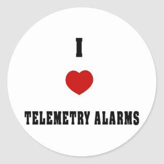 I Love Telemetry Alarms Sticker
