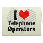 I Love Telephone Operators Cards
