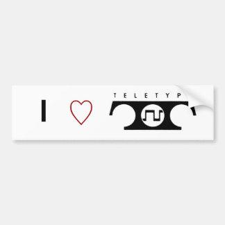 I Love Teletype Bumper Sticker