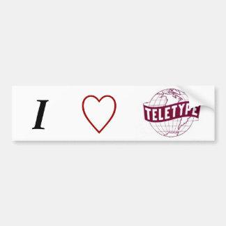 I love Teletype (Globe Logo) Bumper Sticker