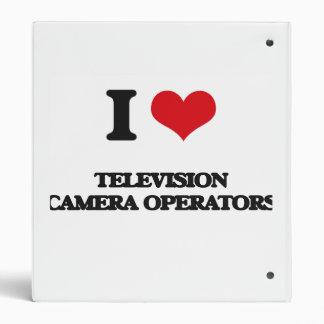 I love Television Camera Operators Vinyl Binder