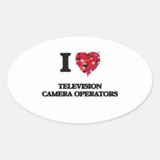 I love Television Camera Operators Oval Sticker
