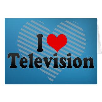 I Love Television Greeting Card
